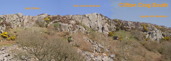 Clifton Crag, Dumfries, topo and route photo