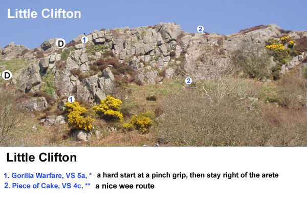 Rock climbign at Clifton - new routes topo