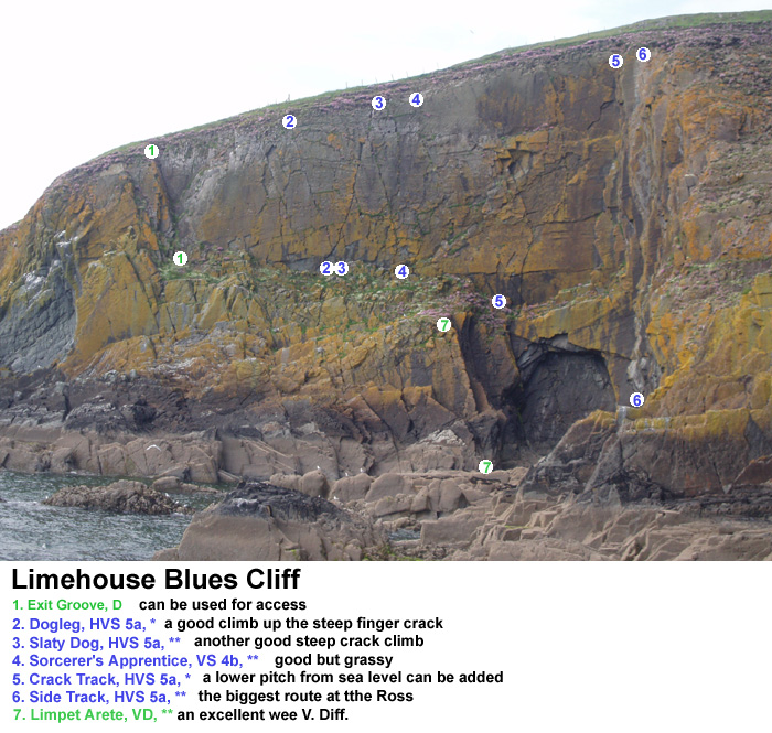 Limehouse Blues cliff, Galloway sea cliffs