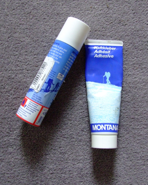 Colltex and Montana Skin glue for Ski Mountaineering