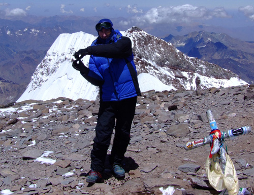 My 8th time on the summit of Aconcagua, out of 6 expeditions.