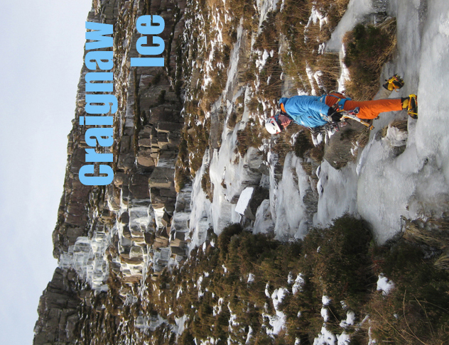 Ice-climbing on Craignaw in Dumfries and Galloway.