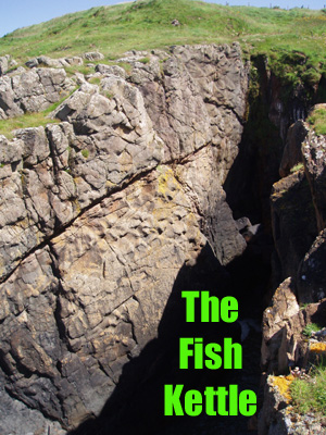 The Fish Kettle and the Kiln o the Fuffock are two climbing areas NW of Stranraer